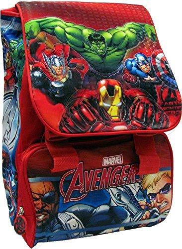 Avengers - zaino scuola estensibile originale avengers - prodotto ufficiale marvel