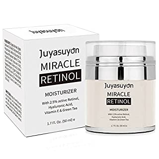 Retinol Moisturizer Cream with Vitamin A C E, Pawaca Pure Retinol Cream for Face and Eye Anti Aging Formula Reduces Wrinkles and Fine Lines, with 2.5% Active Retinol Hyaluronic Acid 1.7 Fl.Oz