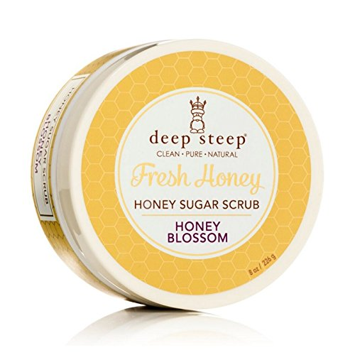 Deep Steep Sugar Scrub, Honey Blossom, 8 Ounce Jar - Shea-butter-zucker-peeling