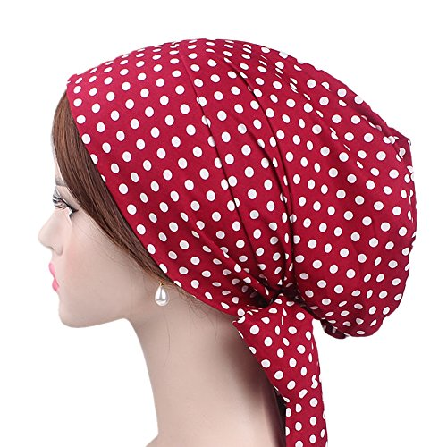 iBaste Turban Damen Mütze Muslime Kopftuch mit Schmetterlinge Hijab Kopftuch für Haarausfall Krebs Chemo Kopfbedeckung 100% Baumwolle Kopftuch Set