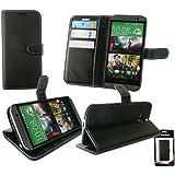 Emartbuy® HTC One M8 2014 Brieftaschen Wallet Etui Hülle Case Cover aus PU Leder mit Kreditkartenfächern