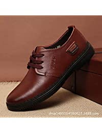 1a9a1ffcab500 LOVDRAM Zapatos De Cuero para Hombre New Men s Leather Shoes Casual Soft  Bottom Business Leather Strap