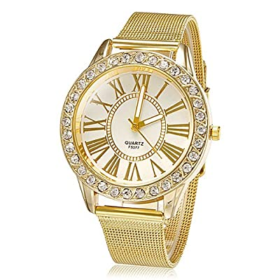 LightInTheBox® Blanco de la Mujer Dial de Oro Banda de cuarzo analógico reloj de pulsera