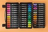 Jeephuer Nützlich 36 Farben Acrylfarbe Marker Pens Permanent Farbe Kunst Aquarell Pen Set (schwarz)