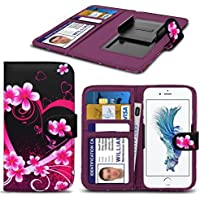 ( Love Heart 157.6 x 78.4) PRINTED DESIGN case for Oukitel U7 Plus case cover pouch High Quality Thin Faux Leather Holdit Spring Clamp Clip on Adjustable Book by i-Tronixs