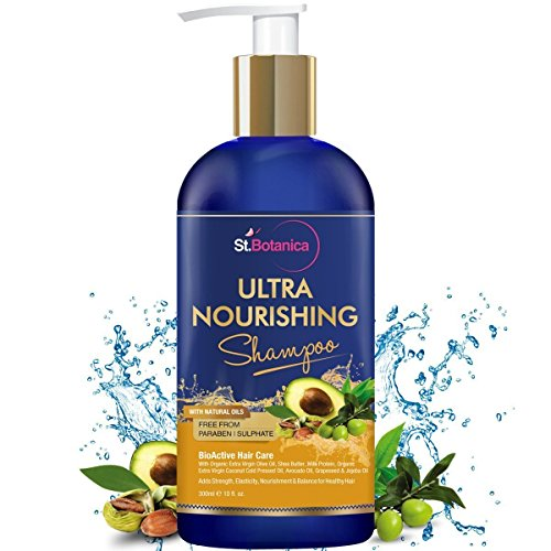 StBotanica Ultra Nourishing Hair Shampoo – 300ml – No SLS / Sulphate, No Parabens, No Silicon