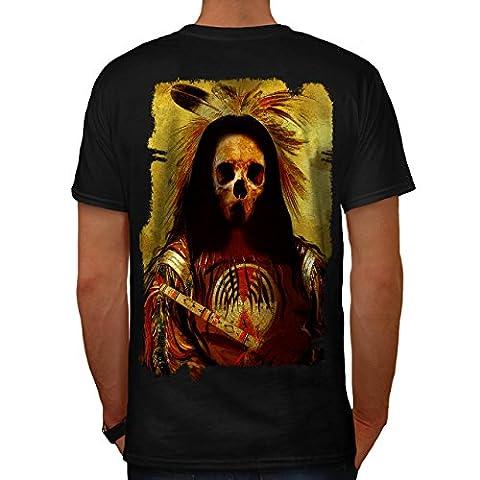 indisch Skelett Alt Schädel Kostüm Herren M T-shirt Zurück   Wellcoda (Clown Kostüme Ziel)