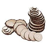 SLD 5–6cm Natur Holz Scheiben Scheiben für Heimwerker Craft, Kiefer, Baum Scheiben Untersetzer, Hochzeit und Party Dekoration 25Stück