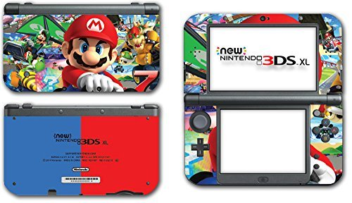 Mario Kart 8 Luigi Yoshi 7 Bowser Glider Video Game Vinyl Decal Skin Sticker Cover for the New Nintendo 3DS XL LL 2015 System Console by Vinyl Skin Designs