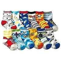 Adatto per 6 - 36 mesi neonati e nei bambini Lavabile in lavatrice e secco 12 diversi tipi di disegni per ragazzi e ragazze Mantenere piedini giorno accogliente o notte