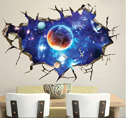 ZBYLL Wall Sticker 3D Galaxy Space Galaxy Umweltschutz Hintergrund Wand