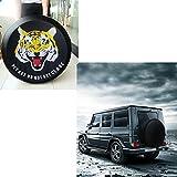 SMKJ Tiger Auto Reifentaschen Reifencover Reifen Schutzhülle Wasserdicht Reserveradabdeckung Gr.15'' für alle Reifentypen ca. 70-75cm/27-29