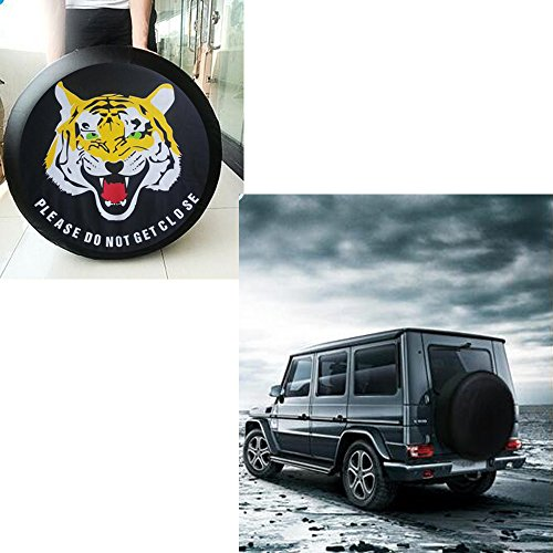 'smkj Tiger auto pneumatici da pneumatici Cover Custodia Impermeabile per ruota di scorta 14'-17diverse misure per tutti i tipi di pneumat