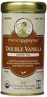 Zhena's Gypsy Tea,Double Vanilla, 22 Count Tea Sachets