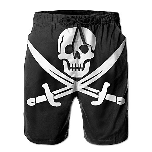 khgkhgfkgfk Danger Pirate Men Short Beach Pant Quick-Drying Board Pants XX-Large -