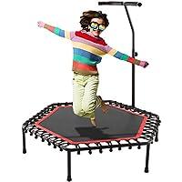 Preisvergleich für Ultrey Fitness Trampoline Faltbar mit Haltegriff, Indoor Sport Trampolin Komplettset Minitrampolin Griff Höhenverstellbar 115-145cm
