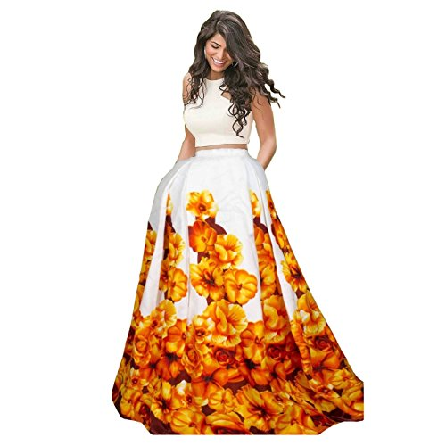 Riyan Enterprise Yellow and White Color Latest Designer Party Wear, Traditional Lehenga...
