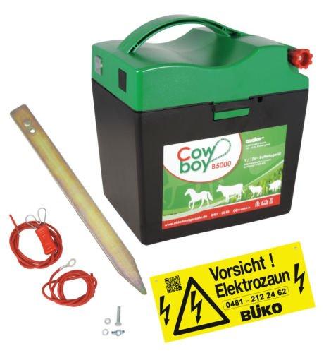 *Weidezaungerät Extra Power Eider B5000 – 9V l 12V l inkl. Zubehörset l 9000V l Qualität Made in Germany*