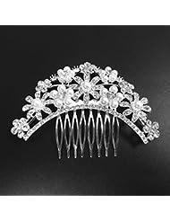 Frauen Mädchen Rhinestone Haar Klaue Haarspange Brötchen Wrap Haarschmuck