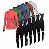 Uglyfrog #02 Damen Radsport Spring Jersey Frühjahr Langarm Shirt+Long Pant Sets Breathable Radfahren Fahrrad Lange Hülsen Fahrrad Hemd Frauen Langarm Fahrradbekleidung