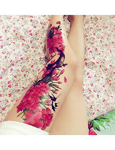 Astty adesivo tatuaggio impermeabile autoadesivo del tatuaggio temporaneo carpa pesce fiore braccio pieno falso tatto flash manica tatoo di grandi dimensioni per le donne degli uomini, colore misto
