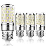 Yiizon LED Mais Glühbirne, E27, 12W, entspricht 100 W Glühlampe, 6000 K Kaltweiß, 1200LM, CRI80 +, kleine Edison-Schraube, nicht dimmbar Kandelaber LED Glühlampen(4 PCS)