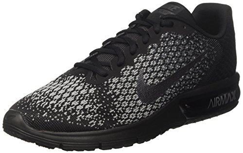 Nike Air Max Sequent 2, Chaussures de Tennis Homme, Nero (Black/Mtlc Hematite/Dk Grey/Wolf Grey/Volt), 42 EU