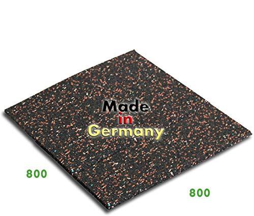 Trupa Qualitativ hochwertige Antivibrationsmatte | 80 x 80 cm | Made in Germany | mit hoher Effizienz | schwingungsdämpfende Unterlage für Waschmaschinen und andere elektrische Geräte