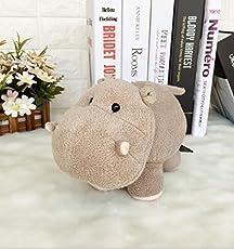 Plüschtier Super Nette weiche Spaß 35x25cm Plüsch Nilpferd Tier Stofftier Hippo Puppe Geschenk für Kinder (Hellbraun)