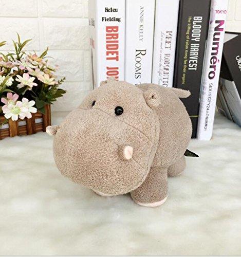 cheltier Super Nette Weiche Spaß 18x15cm Plüsch Nilpferd Tier Stofftier Hippo Puppe Geschenk für Kinder (Hellbraun) ()
