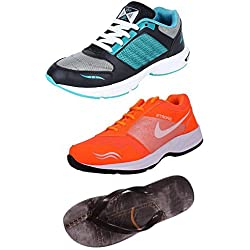 Maddy Men's Combo Of 3 Shoes- 2 Sports Shoes & 1 Slipper (9)