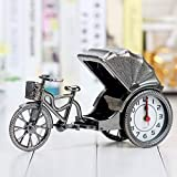 LUOJUNHUAN Reloj de Mesa Modelo de Coche Antiguo Reloj de Mesa Decoración Familiar Artesanía de plástico Regalo de Juguete para niños Reloj de Alarma de Cuarzo 225 * 75 * 130 mm Plata