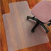 Alfombrillas para sillas con ruedas para colocar sobre suelos duros de oficina, alfombra rectangular con borde para protección del suelo y de las alfombras, con parte posterior lisa antiestática, sin bisfenol A, 91,4cm x 122cm, plástico, Smooth Back, 90 x 120 cm