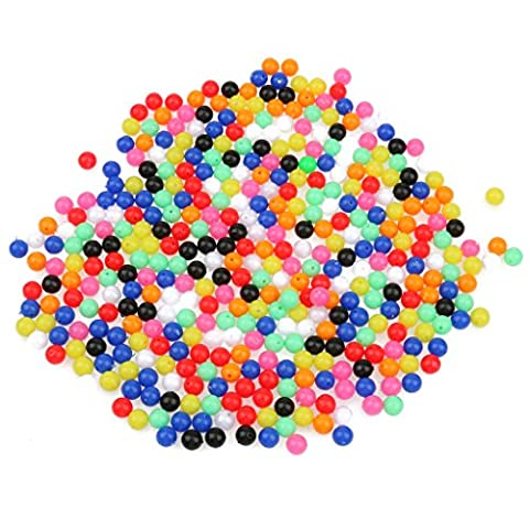 MagiDeal 1000pcs 8mm Colorful Round Beads Fishing Lures Fishing Bead Tackle Tools