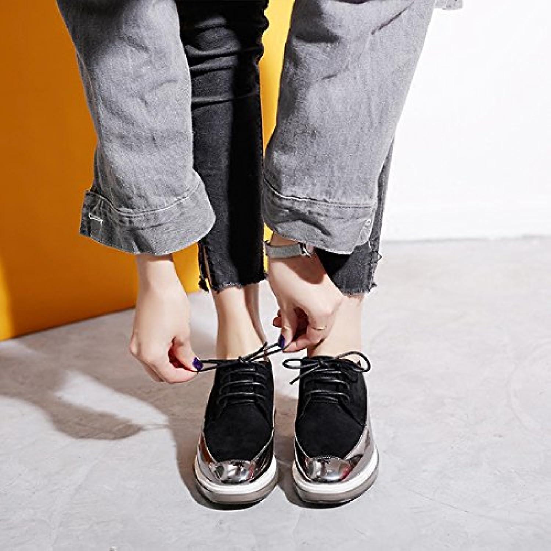 LIANGJUN Zapatos De Mujer Zapatillas Tacones Altos Primavera, 6 Tamaños, 2 Colores Disponibles (Color : Negro,...