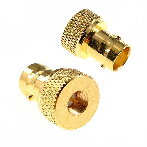 oiyagai 2BNC Buchse auf SMA-Stecker Barrel Typ Gold Connector RF Koax Adapter Bnc Barrel