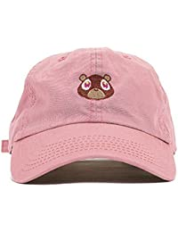 8d28de2410d CATOP Washed Cotton Cap Bear Embroidered Curved Plain Dad Hat Strapback Baseball  Cap Unisex
