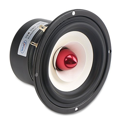 DROK® 4-inch 15W HIFI completa Range, 8Ω Anti-magnetici altoparlanti stereo con subwoofer, altoparlanti 88dB casa woofer con Clear Voice / High & Low Pitch, altoparlante adatto per l'ascolto di musica Classica & String