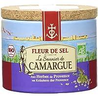 Le Saunier de Camargue Fleur de Sel aux Herbes de Provence Boîte Ronde 125 g