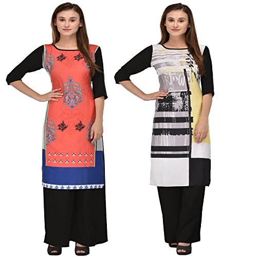 kurtis for womens by Style Badge Combo ( Pack of 2 )