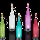 Ouneed® 5 couleur / 1 set Bouteille Led Solaire Ampoule Jardin Deco Exterieur (Colore)