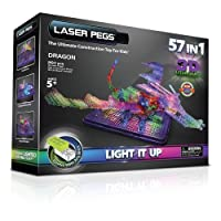 Laser Pegs 57-in-1 3D Light Board Dragon Construction Set