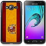Graphic4You España bandera española Carcasa Funda Rigida para Samsung Galaxy J3