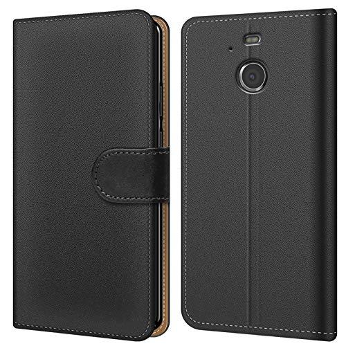 Conie BW4467 Basic Wallet Kompatibel mit HTC 10 EVO, Booklet PU Leder Hülle Tasche mit Kartenfächer & Aufstellfunktion für HTC 10 EVO Case Schwarz