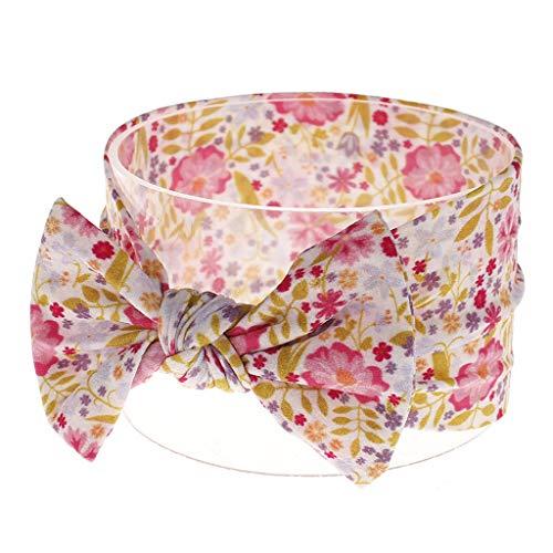 Lazzboy Kleinkind Baby Mädchen Bowknot Stirnband Stretch Haarband Headwear Blumen Schleife Baumwolle Mehrfarbig Verknotet Kopfband Haarschmuck Turban Top Knot Head Wrap(L)