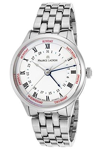 Maurice Lacroix mp6507-ss002-112Herren Meisterwerk Cinq Aiguilles Automatik SS Weiß Zifferblatt SS Armbanduhr