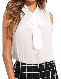 12243e15e9 Femme Camisole Été Femme Lady sans Manches V-Neck Couleur Pure Grande  Taille Vest Débardeur