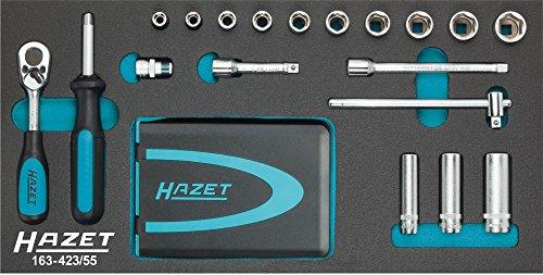 Hazet 163-423/55 Steckschlüssel- und Bit-Satz, Anzahl Werkzeuge: 55