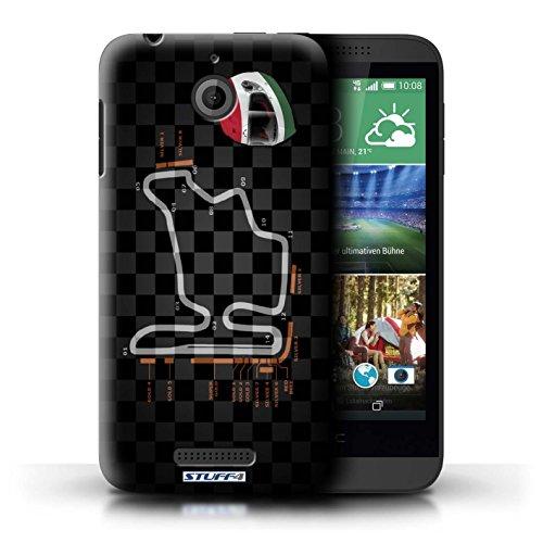 Kobalt® Imprimé Etui / Coque pour HTC Desire 510 / USA/Austin conception / Série 2014 F1 Piste Hongrie/Budapest
