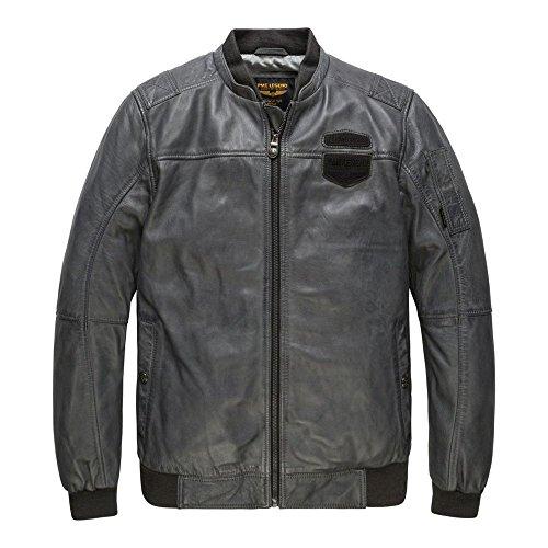 PME Legend Feroce Leder Jacke - Fliegerjacke, Größe_Bekleidung:M, Farbe:Grey